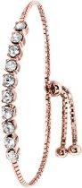 Lucardi - Zilveren armband rose Swarovski Crystal white