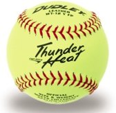 Dudley 4A-147Y Softball Wedstrijdbal Thunder Heat - Yellow - 12 inch