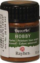 Hobby allesverf bruin 15 ml
