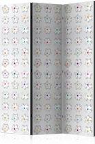 Vouwscherm - Bloemen 135x172cm