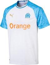 PUMA Olympique de Marseille Thuisshirt 2018/2019 Heren - Puma White-Bleu Azur - Maat S