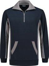 Workman Zipper Sweater Bi-Colour - 2702 navy/grijs - Maat L
