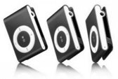 Mini MP3 speler met in-ear koptelefoon Zwart