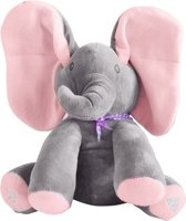 Roze Olifant Knuffel - Interactief Speelgoed