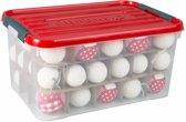 Allibert - Kerstballenbox - Kerstbox 50L transparant / rood
