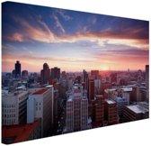 FotoCadeau.nl - Zonsondergang over Johannesburg Canvas 80x60 cm - Foto print op Canvas schilderij (Wanddecoratie)
