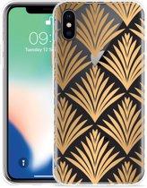 Apple iPhone Xs Max Hoesje Art Deco Gold