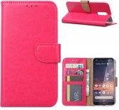 Nokia 3.2 - Bookcase Roze - portemonee hoesje