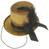 Midi hoge hoed glitter + deco goud