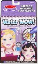 Melissa & Doug Water WOW! voor onderweg Herbruikbaar kleurblok met verborgen afbeeldingen - Make-up en manicure