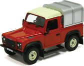 Britains Land Rover Defender 90 + Canopy (Red)