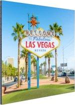Welkomstbord Las Vegas bij daglicht Aluminium 30x20 cm - klein - Foto print op Aluminium (metaal wanddecoratie)