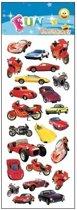 Stickervel autos en motoren