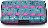 LeuksteWinkeltje pasjeshouder Flamingo - met 6 vakjes anti RFiD