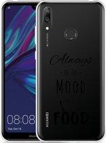 Huawei Y7 2019 Hoesje Mood for Food Black