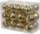 Kunststof kerstballen - 6 cm - 24 stuk