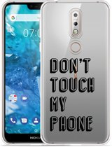 Nokia 7.1 Hoesje Don't Touch My Phone