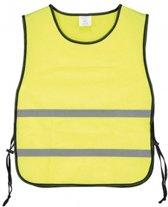 Veiligheidshesje met reflecterende banden geel