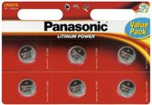 Panasonic CR2025 Lithium 3 V - 6 stuks