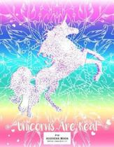 Large Address Book - Office/Desk 8.5 X 11 - Unicorns Are Real