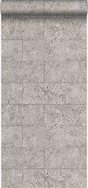 Origin behang kalkstenen blokken lichtgrijs - 347581 - 53 cm x 10.05 m