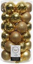 Kerstballenset - 36 stuks - Goud - kunststof - ø 6 cm