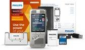 Philips Professionel PocketMemo Dicteerapparaat DPM8200/02, 4-positie Schuifschakelaar (Phi.), Docking, accessoires, SpeechExec Pro Dicteersoftware (incl. abonnement voor 2 jaar)