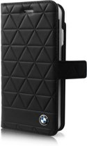 BMW Originele Hexagon Folio Bookcase Hoesje voor de Apple iPhone 6 / 6S / 7 en 8 - Zwart