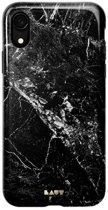 LAUT - iPhone Xr Hoesje - Back Case HUEX Marble Zwart