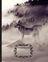 White Wolf - Mystical Winter, Composition Notebook