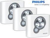 Philips SpotOn | 3-pack | oriëntatieverlichting LED met bewegingssensor, incl. batterijen