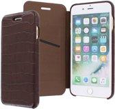 iPhone 8 Plus/7 Plus/6s Plus/6 Plus hoesje - Graffi - Bruin (Croco) - Leer