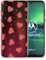 Motorola Moto G8 Plus TPU bumper Hearts