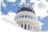 Capitool van Californië in Amerika tijdens een zonnige dag Tuinposter 180x120 cm - Tuindoek / Buitencanvas / Schilderijen voor buiten (tuin decoratie) XXL / Groot formaat!