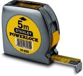 Stanley Rolbandmaat Powerlock 5m 19mm boveninkijkvenster