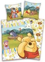 Winnie the Pooh flanel dekbedovertrek Multi 1-persoons (140x200 cm + 1 sloop) (numbers)