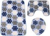 Baytex Badmat Set BYT6174 Blue Snow