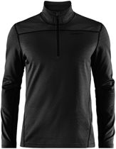 Pin Halfzip Wintersportpully Heren