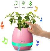 Bloempot Bluetooth speaker - Lamp - Roze