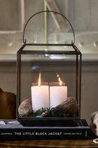 Rivièra Maison French Glass NYC Lantern - M - Windlicht - Glas/Ijzer - Zwart