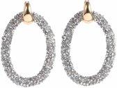 Cilla Jewels Oorbellen Crystal Oval Gold Silver