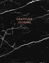Gratitude Journal: Elegant Black and White Marble - Daily Gratitude Journal for Women and Teen Girls (8.5 x 11 - 100 pages)