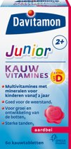 Davitamon Junior 2+ Kauwvitamines - multivitamine - aardbei - 60 tabletten