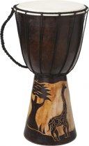 Handgemaakte drum Giraffe 40 cm