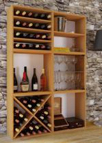 Wijnkast wijnrek Weino 6 vakken beuken