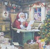Servetten Santa's Mail 25 x 25 cm
