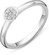 Majestine 925 Zilveren Ring met Zirkonia maat 56