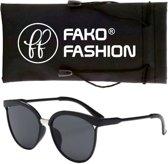 Fako Fashion® - Zonnebril - Clubmaster - Zwart