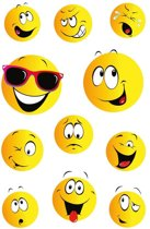 33x Smiley stickers - kinderstickers - stickervellen - knutselspullen