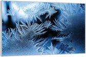 Plexiglas –IJskristallen– 150x100 (Wanddecoratie van Plexiglas)